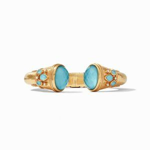 Cassis Gold Cuff Pacific Blue Julie Vos NWT